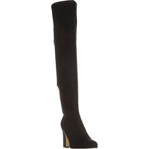 Lace Fisher Marc Neela 5 Black US Back Over Boots Knee The C1fY1q