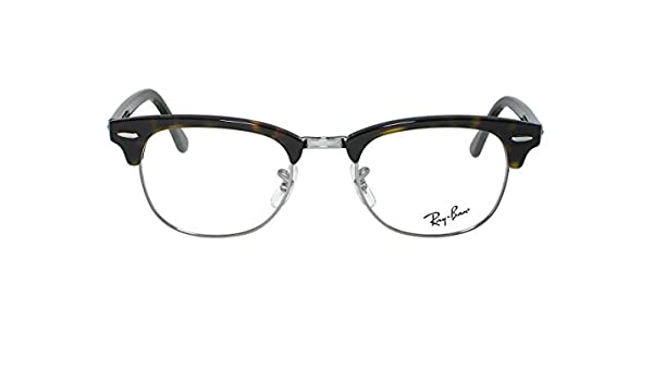 596bb114a6 Amazon.com  Ray Ban RX5154 Clubmaster 2372 Red Havana Eyeglasses 49mm   Clothing