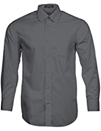 Men's Solid Long Sleeve Dress Shirt