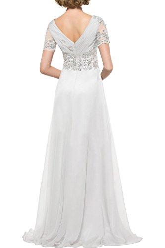 Damen Kurz Linie Abendkleid Partykleid Ivydressing Silber A Hochwertig Aermel Mit Steine Promkleid Fq7ad1w