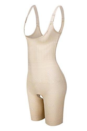 Amazingjoys Women s Open Bust Bodysuit Seamless Body Shaper Tummy Control Shapewear