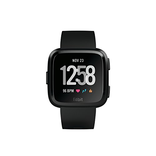 Fitbit Versa Smartwatch, Black/Black Aluminium, One Size (S & L Bands Included) by Fitbit (Image #1)
