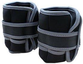 ScSPORTS® Gewichtsmanschetten 2 x 1 kg, mit Klettverschluss, für Handgelenke und Fußgelenke, Gewichte herausnehmbar/blau, schwarz