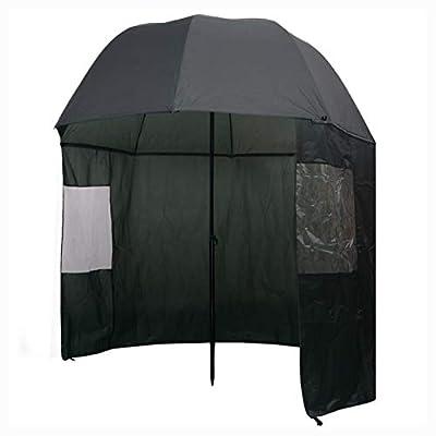 """HomyDelight Fishing, Fishing Umbrella Green 118""""x94"""""""