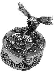 (Wentworth Pewter - Flower Fairy pewter trinket Box - H:45mm / 35mm x 25mm)