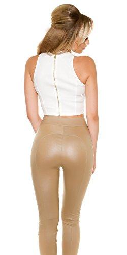 KouCla - Camiseta sin mangas - para mujer Weiß