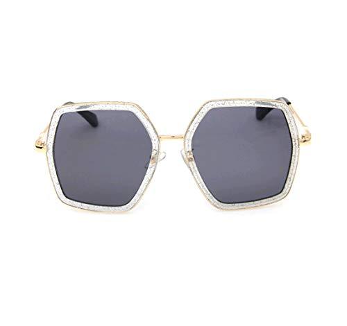 GAMT Oversized Square Sunglasses Women Vintage UV Protection?irregular Brand Designer Shades (grey)