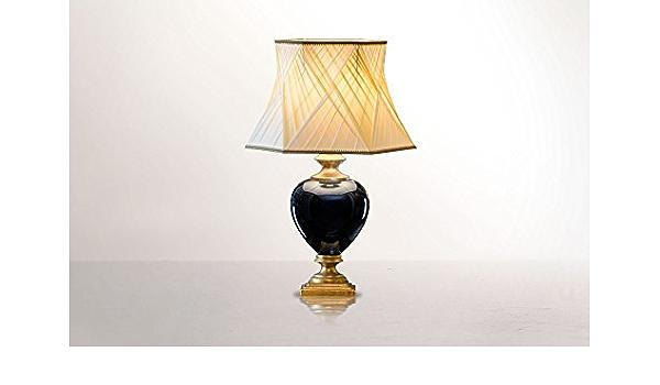 Lámpara de mesa en cerámica italiana - Made in Italy - hecho a mano: Amazon.es: Iluminación