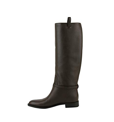 Gucci Brown Interlocking G Leather Knee Boots 338541 2140