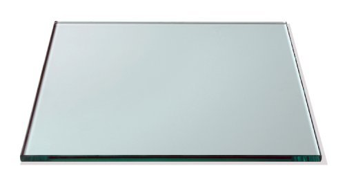 Rosseto GTS14 Square Surface Tempered Glass, 14-Inch, Clear by Rosseto (Square Rosseto)