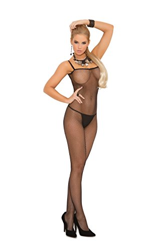 Seamless Strap Bodystocking Spaghetti (Zabeanco Seamless Fishnet Criss Cross Back Bodystocking With An Open Crotch (One Size))