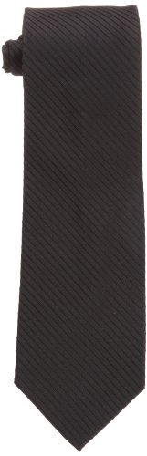 Calvin Klein Men's King Cord Solid Necktie, Black, One ()