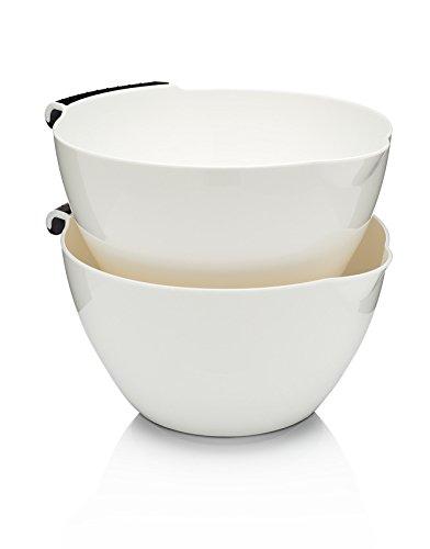 Bargain Francois et Mimi Set of 2x Comfort-Grip 4-Quart Mixing Bowl Set opportunity
