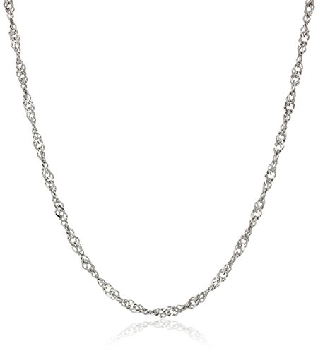 Sterling Silver Italian 1.4 mm Singapore Chain Necklace, 60