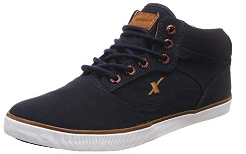 Sparx Men's Navy Blue and Tan Sneakers - 10 UK/India (44.67 EU)(SC-282)