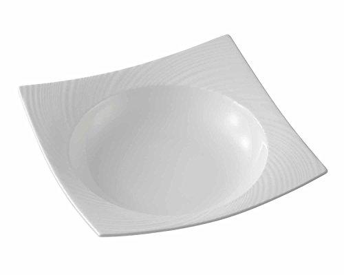 091574011516 - Wedgwood Ethereal Pasta Square Bowl, White carousel main 0