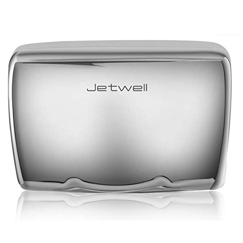JETWELL High Speed Commercial Automatic Hand Dryer - Heavy Duty Stainless Steel - Warm Wind Hand -