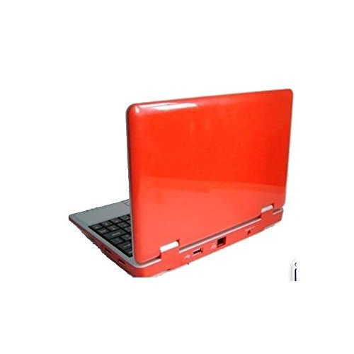 Soledpower Android 7'' Mini Notebook Laptop Netbook 4gb Storage 1.2ghz Wifi Hd Solid Red Mini Laptop 7 Inch Netbook Notebook Computer Tablet Pc, Installed Wifi LAN Connection, Supports Netflix Google Play Store, Word/excel/power Point, 2 USB Ports, Sd Card by Soledpower
