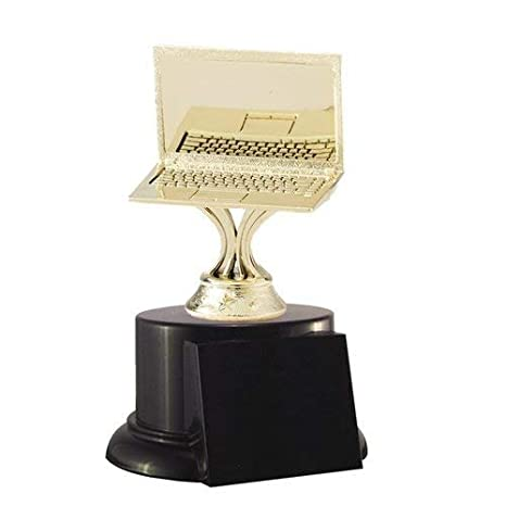 Amazon.com : Laptop Computer Trophy with 4 lines of custom text : Sports & Outdoors