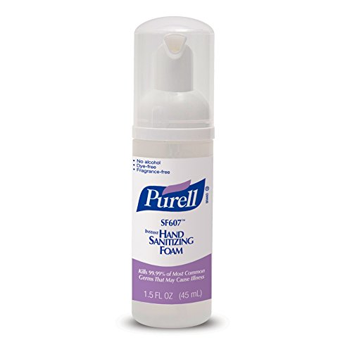 Purell 5684-24 SF607 Alcohol Free Instant Hand Sanitizing Foam, 45 mL Pump Bottle (Pack of ()
