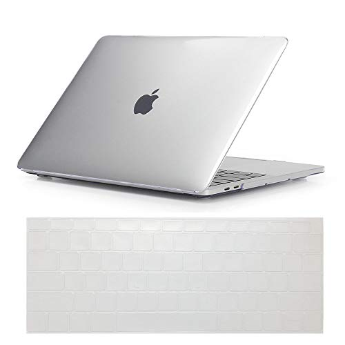 Se7enline New MacBook Air Case 2018 Release Crystal Plastic Hard Shell Carrying Case Cover for MacBook Air 13-Inch with Touch ID Newest Version Model A1932 with Keyboard Cover, Crystal ()