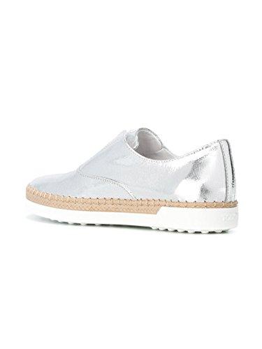 Tod's Slip On Sneakers Donna XXW0TV0J980RALB200 Pelle Argento