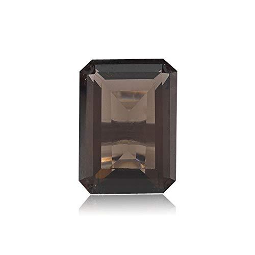 Mysticdrop 0.49-0.59 Cts of 6x4 mm AAA Emerald Cut Smoky Quartz (1 pcs) Loose Gemstones