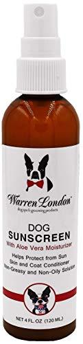 Warren London - Premium Dog Sunscreen with Natural Aloe Vera Moisturizer - 4 oz Spray Bottle