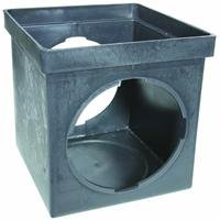 NDS 900 9'' by 9'' 2 Opening Catch Basin, Black by NDS Raindrip