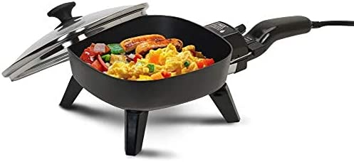 7 Inch Non Stick Electric Skillet With Glass