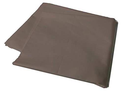 Body Pillow Cover Pillowcase, 400 Thread Count, 100% Cotton, 20 x 54 Non-Zippered Enclosure, 6 Colors Available (Taupe)