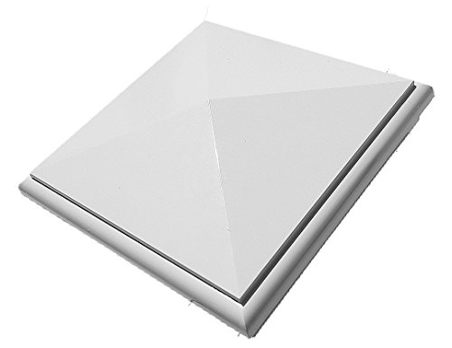 "New England Post Cap PVC 5""X 5"" (White)"