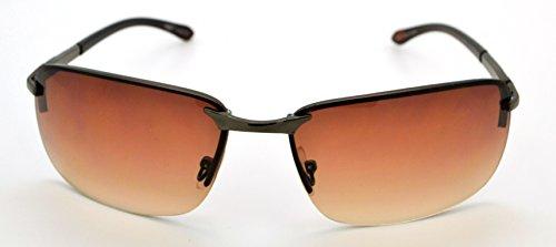 classique Lunettes W pour grande de microfibre gratuit Hot Gray Lens Vox Frame Mode homme Pour tendance et soleil femme étui Brown qualité de C5q7xw4Z7