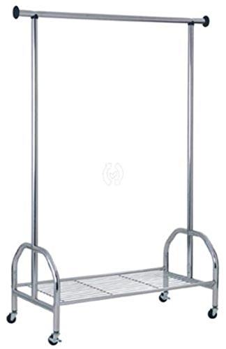 Haku Roll - Perchero de acero cromado. Tubo con una barra y ...