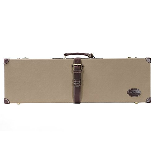 Tourbon Shotgun Gun Case Hard with Combination Lock - Canvas and Leather