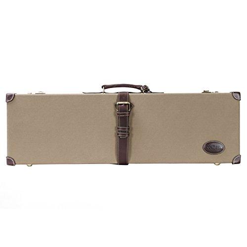 TOURBON Vintage Shotgun Case Hard Gun Storage Box with Soild Brass Lock