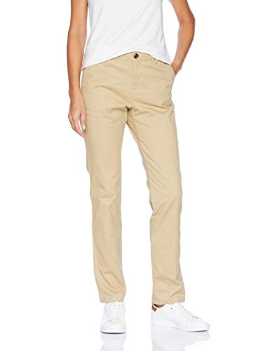 Amazon Essentials Women's Straight-Fit Stretch Twill Chino Pant, Khaki, 18 Regular