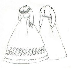 1800s Day or Camp Dress Pattern (Large-18-22) (Period Dress)