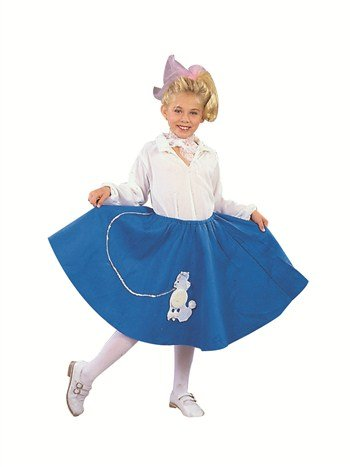 RG Costumes Blue Poodle Skirt - Child Large -