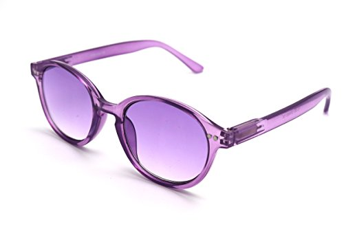 Calm Framed - ColorViper Color Tinted Reader Reading glasses keep calm , creativity , cheerfulness, concentration (medium school boy transparent purple, 1.50)
