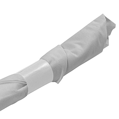 N. F. STRING & SON, INC. White Napkin Bands, pre-cut, 2000 per box ()