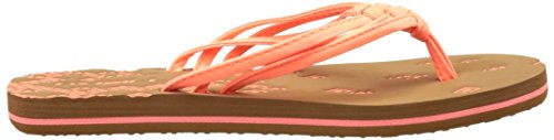 O'Neill Fw 3 Strap Ditsy Flip Flop - Chanclas Mujer Pink (Fluoro Peach)