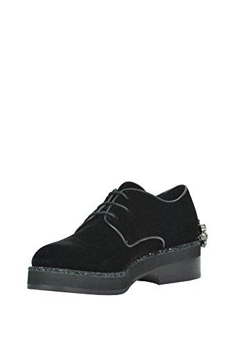 Alberto Gozzi Chaussures À Lacets Pour Femmes Mcglcab02048i Black Velvet
