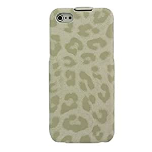 Leopard Flip PU Leather Full Case for iPhone 5/5S(Assorted Color) , Black