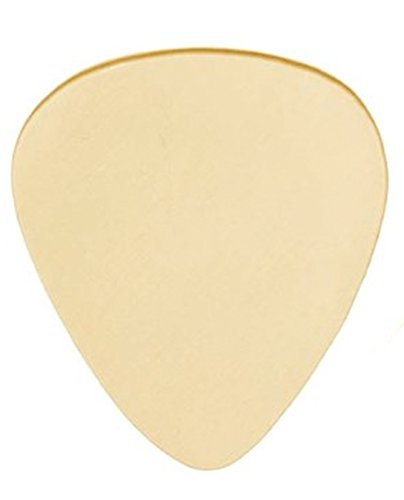NinjaCrafters Brass Guitar Pick Blanks, 5x Heavy 18 Gauge Blanks for Metal Hand Stamping and More