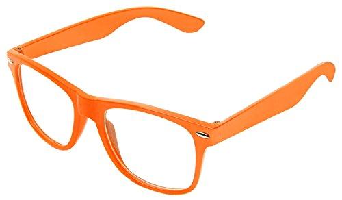 par BOOLAVARD couleur Rétro Zéro Lunettes Clair Effacer Classic Punk style de soleil Geek Vintage Orange Objectif Nombre unisexe 64ZRq