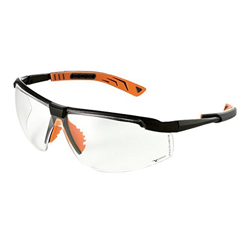 Univet 5X8.01.00.00 5X8 Goggle with Clear Glass Black//Orange