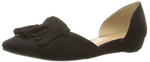 Seline by Womens Suede Flat Black Pointed Super Laundry Toe DOrsay Chinese CL PIdWgqI