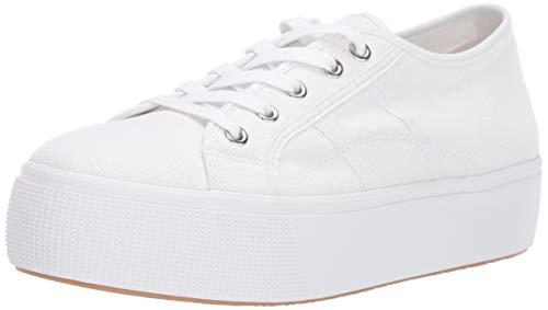 Steve Madden Women's EMMI Sneaker, White, 7 M US