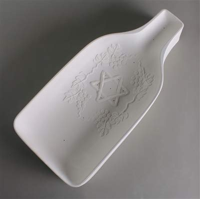 GM238 STAR OF DAVID BOTTLE SLUMP - Mold for glass fusing and slumping
